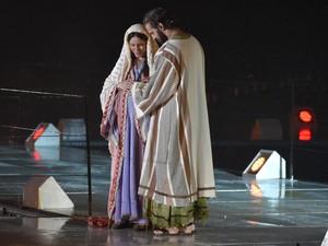 O ponto de vista de Maria sobre o nascimento de Jesus (Foto: Cleiton Thiele/SerraPress)