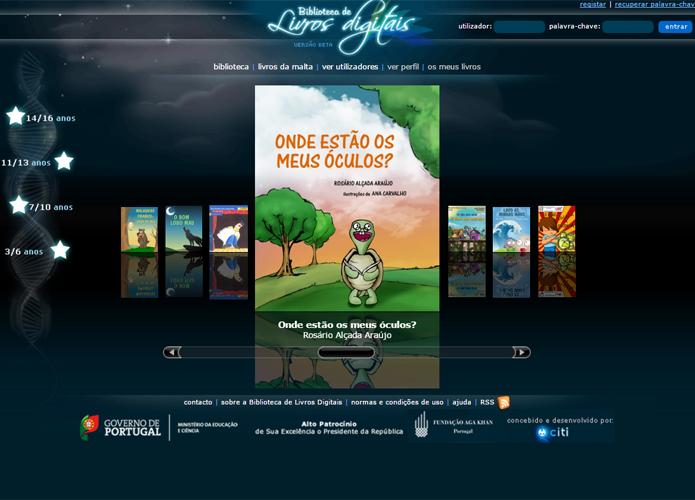 Voltado para o público infanto-juvenil, site tem uma série de livros de aventuras (Foto: Reprodução/Filipe Garrett)