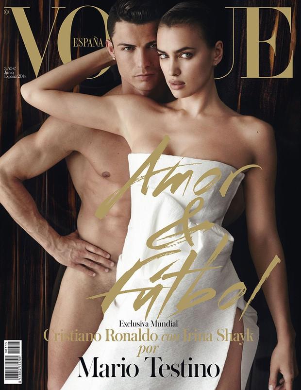 Cristiano Ronaldo e Irina Shayk (Foto: Revista/Reprodução)