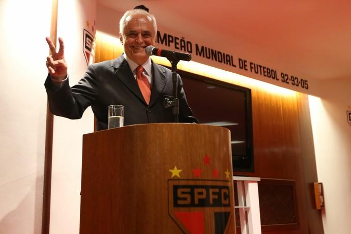 Leco Presidente do São Paulo (Foto: Alex Silva/Estadão Conteúdo)