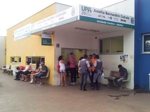 UPA Central apresenta demora no atendimento de pacientes (Foto: Orlando Duarte Neto/G1)