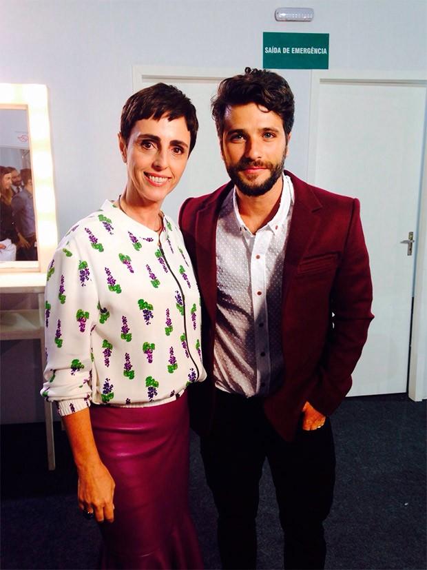 SPFW Bruno Gagliasso e Lilian Pacce (Foto: Divulgao GNT)