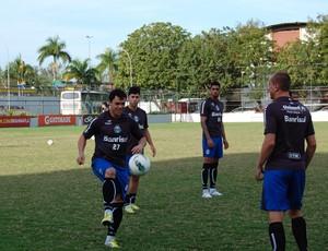Treino do Grêmio na Gávea (Foto: TXT / DVG)