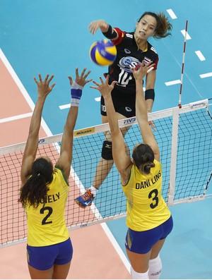 vôlei Juciely Brasil x Tailândia (Foto: Divulgação FIVB)