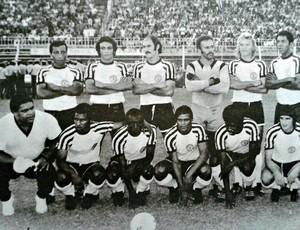 Time da Desportiva Ferroviária que encarou oSergipe, em 1973, no primeiro Campeonato Brasileiro do clube (Foto: Reprodução/Acervo de Elci Rodrigues)