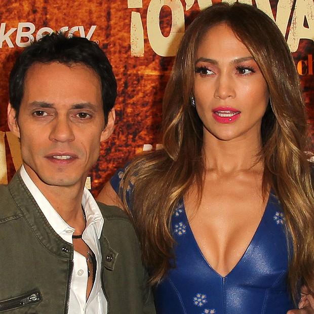 Marc Anthony e Jennifer Lopez, na época que ainda eram casados (Foto: Getty Images)