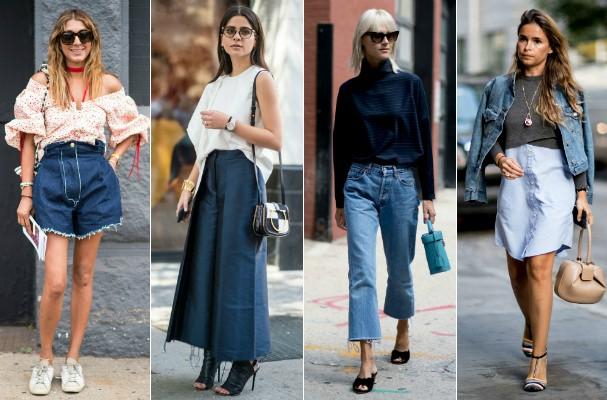 Tendências do streetstyle: jeans (Foto: Imaxtree)