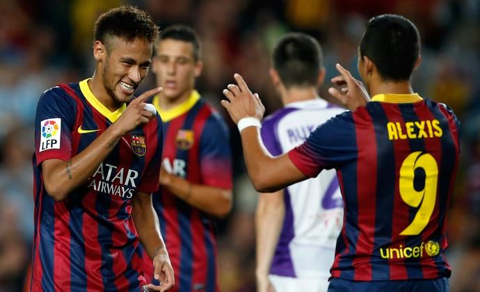 Neymar e Alexis Sánchez gol Barcelona (Foto: Reuters)