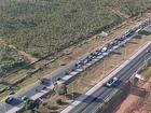 Acidente próximo a Santa Maria, no DF, cria congestionamento de 8 km