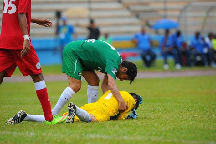 Raúl e Sandy Sanchez - EUA x Cuba (Foto: AFP)