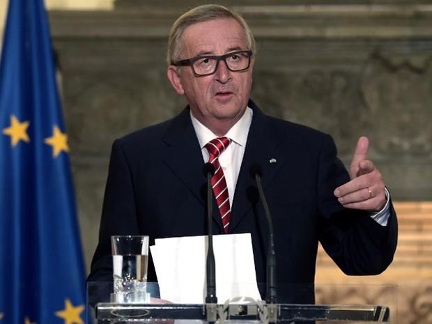 Presidente da Comissão Europeia, Jean-Claude Juncker, disse nesta quarta-feira (22) que não haverá renegociação após referendo em que Reino Unido decidirá se continua na União Europeia (Foto: Aris Messinis / AFP)