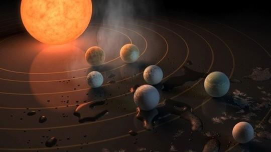 Foto: (Astrônomos descobrem sete novos planetas (Reprodução/Google))