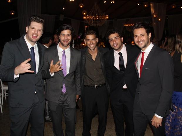 Cássio, Marcelo, Mau Mau, Junior Junior Gianetti e Emanuel (Foto: Marcelo Sá Barreto /AgNews)