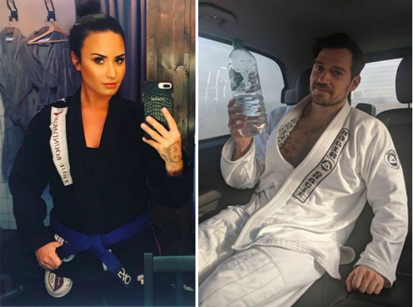 A cantora Demi Lovato e o ator Henry Cavill (Foto: Instagram)