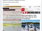 Policial norueguês multa a si mesmo por navegar sem colete salva-vidas