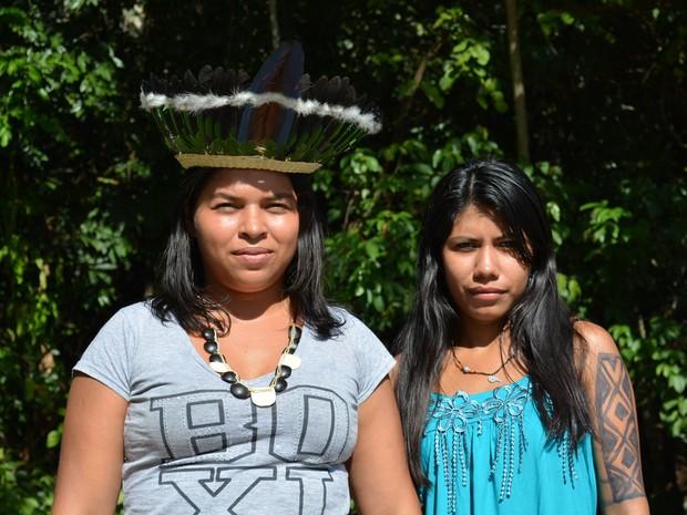 Lideranças de aldeias participam do 1º Encontro de Mulheres Indígenas em RO (Foto: Matheus Henrique/ G1)