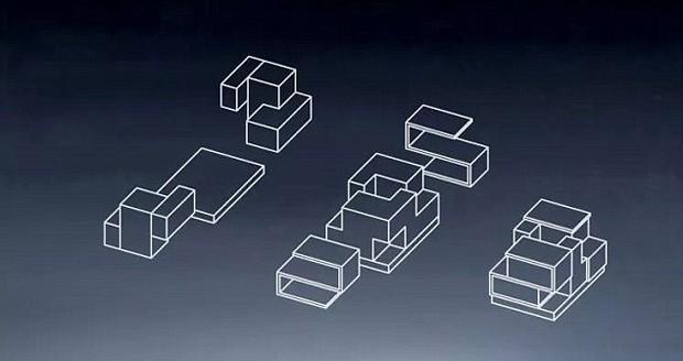A montagem do lar foi inspirada no jogo Tetris (Foto: Reprodução)