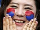 Inspire-se na maquiagem, nas unhas e nos penteados para a Copa das torcedoras do mundo todo