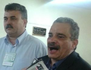 Mauro Carmélio e Eudes Bringel eleição Federação Cearense de Futebol (Foto: Divulgação/FCF)