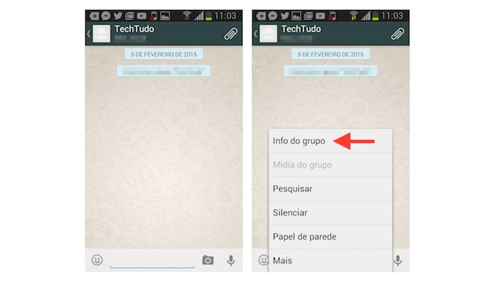 Acessando as informações de um grupo no WhatsApp para Android (Foto: Reprodução/Marvin Costa)