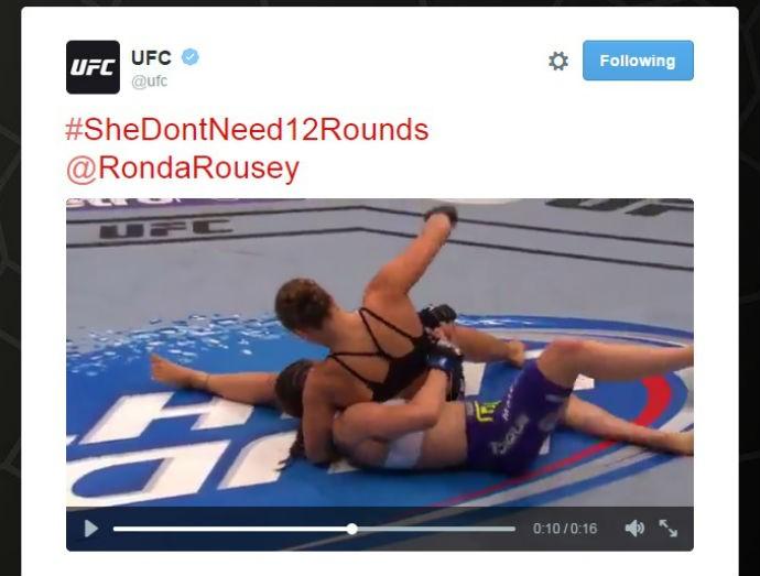Ronda Rousey UFC twitter