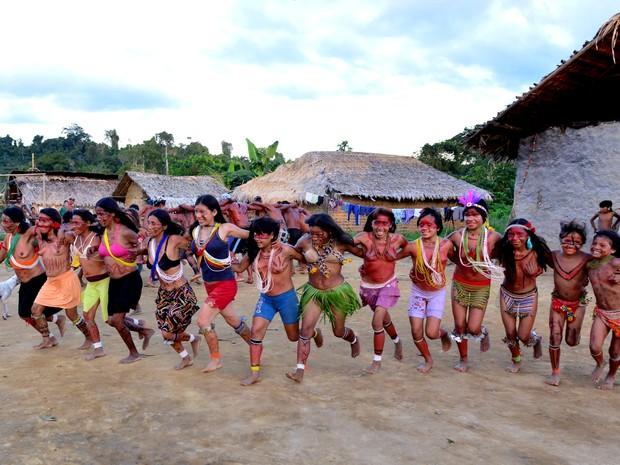 Índios Xixirana da comunidade Sikamabiu em Roraima (Foto: Jorge Macêdo/Arquivo pessoal)