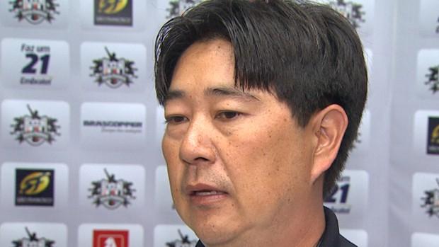 Sérgio Tanaka, técnico do Botafogo-SP (Foto: Reprodução EPTV)