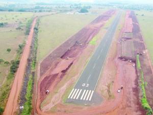 Aeroporto Tito Teixeira, em Ituiutaba (Foto: Arquivo / Prefeitura de Ituiutaba)