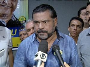 Sargento Aragão será candidato a prefeito pelo PEN em Palmas (Foto: Reprodução/TV Anhanguera)