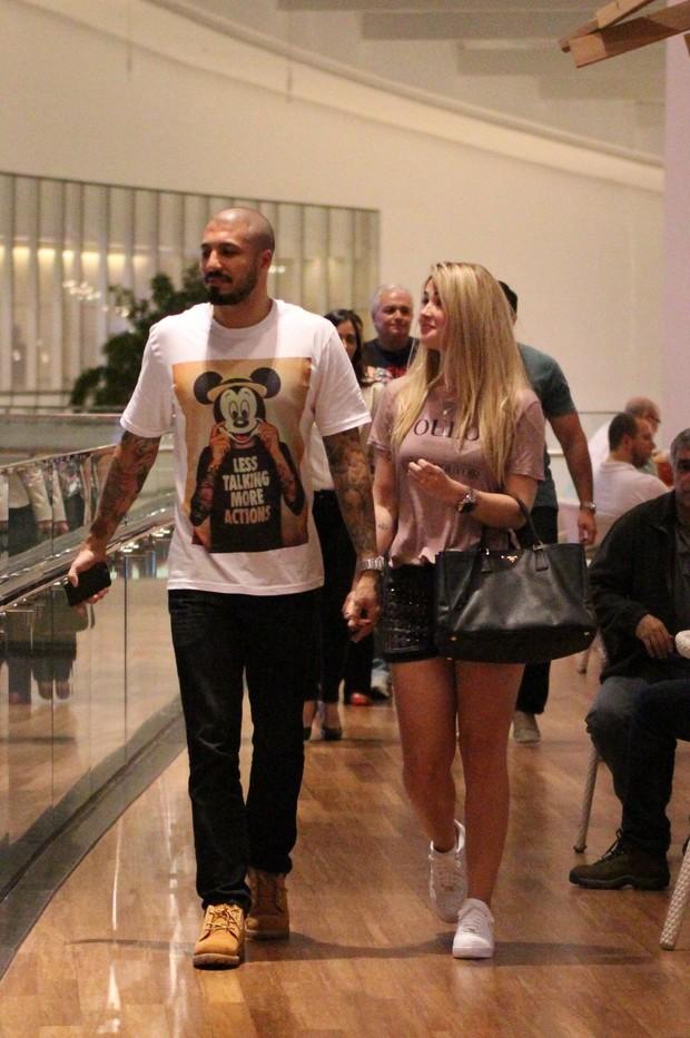 Fernando e Aline  (Foto: Fabio Moreno / Agnews)