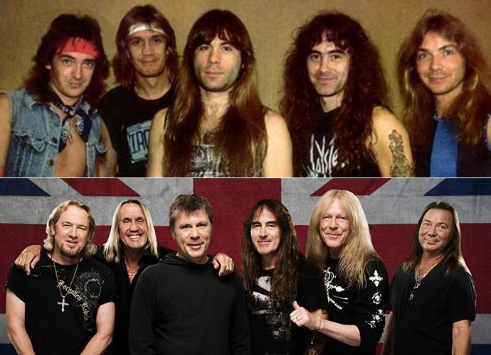 Para um bom headbanging (bater cabeça) tem que ter cabeleira! Com exceção de Bruce, todos os membros do Iron Maiden continuam com longos cabelos (Foto: Divulgação)