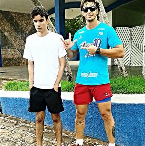 Atleta Air Filho e guia Calixto Franco Ituiutaba (Foto: Reprodução/Instagram)