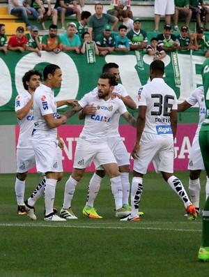 Chapecoense x Santos gol de Lucas Lima