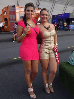 Indianara Carvalho e Daiane Morcira (Foto: Jessica Mello/G1)