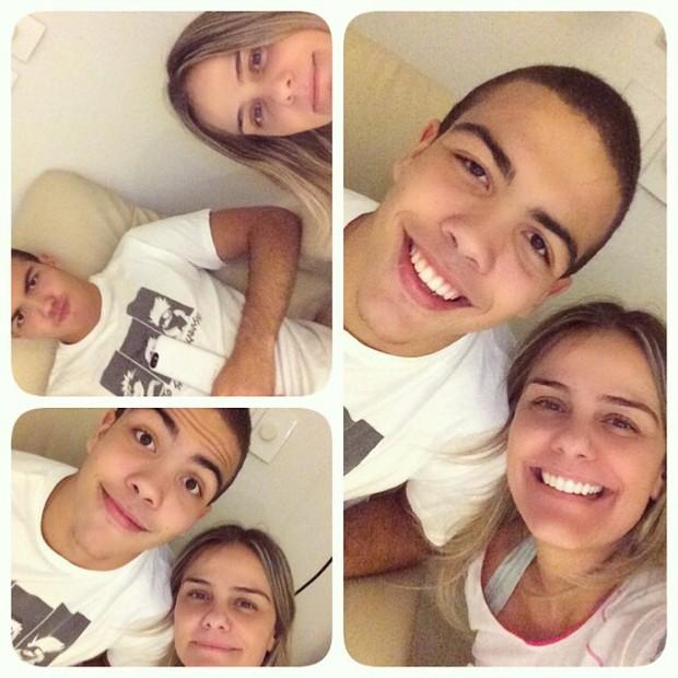 Ronald e Milene Domingues em hospital (Foto: Instagram/ Reprodução)