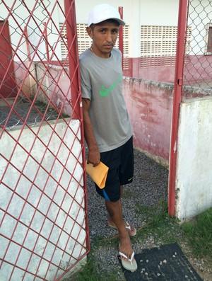 Thiago Potiguar - meia do América-RN (Foto: Jocaff Souza/GloboEsporte.com)