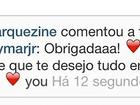 Amigos e nada mais! Marquezine agradece felicitação de Neymar