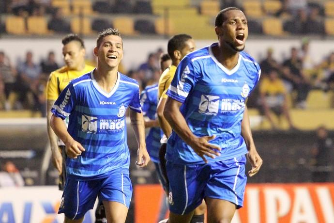 Gol de Anselmo, macaé x criciúma (Foto: Tiago Ferreira / Macaé Esporte)
