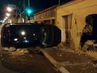 Veículo atinge muro de casa e passageiro morre em Uberaba