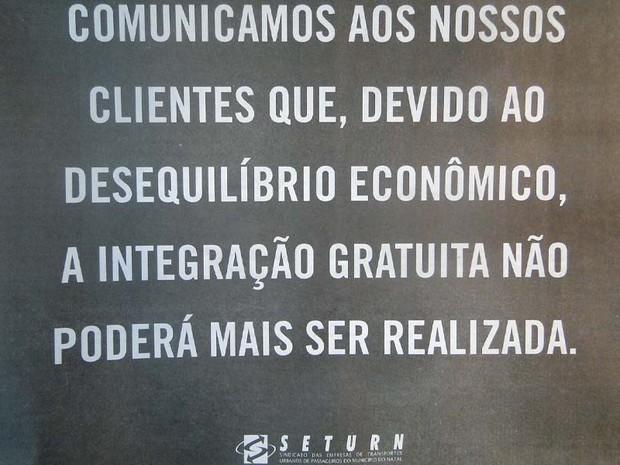 Anúncio do Seturn publicado nos jornais impressos do Rio Grande do Norte neste sábado (15) (Foto: Reprodução)