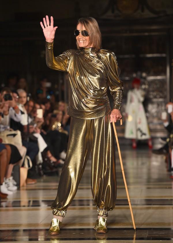 A atriz e modelo Anita Pallenberg em um evento de moda (Foto: Getty Images)
