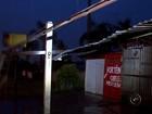 Chuva forte destelha comércio e causa prejuízos em Rio Preto