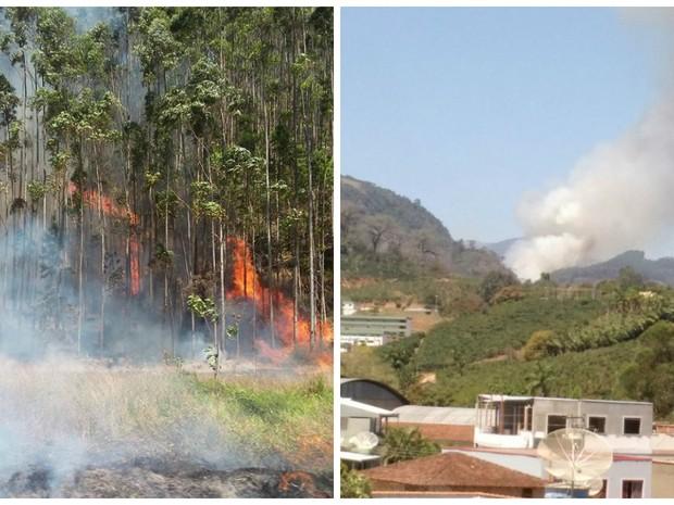 Incêndio em Venda Nova do Imigrante (Foto: Tiago Altoé/ Foto Leitor A Gazeta)
