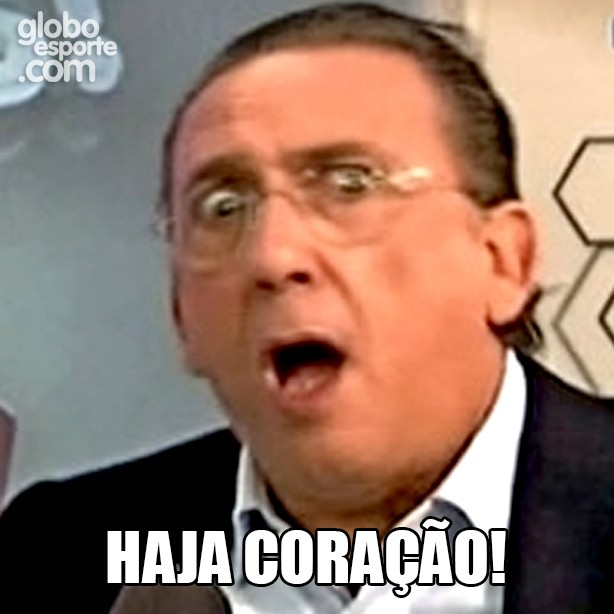 Haja Coração, amigo (Foto: Globoesporte.com)