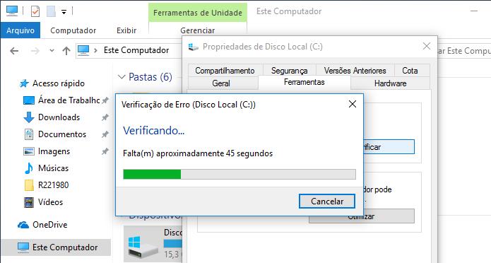 Descubra como corrigir problemas de disco rígido no Windows com Chkdsk (Foto: Reprodução/Edivaldo Brito)
