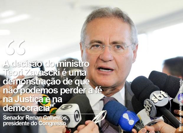 Renan Calheiros diz que não podemos perder a fé na justiça (Foto: Jane de Araújo/Agência Senado)