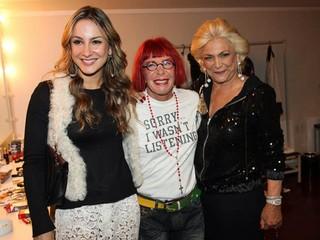 Rita Lee recebe Hebe Camargo e Claudia Leitte em seu camarim (Foto: Manuela Scarpa / Photo Rio News)