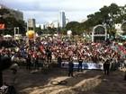 Festa com shows e ações solidárias reúne trabalhadores no Centro Cívico