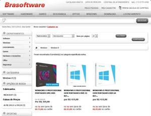 Site vende Windows 8 Pro completo por R$ 420 (Foto: Reprodução)