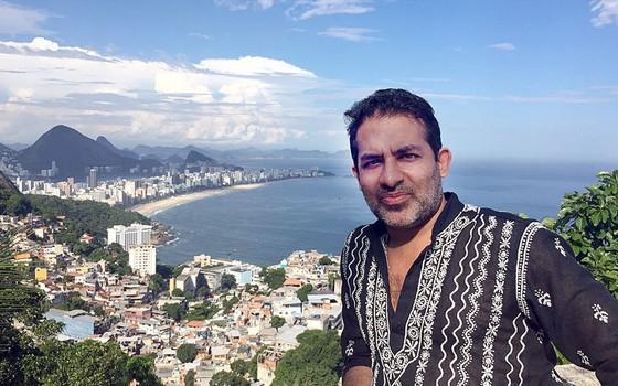 Fascinado pelo Brasil,o filho de indianos Steven Vachani escolheu São Conrado para inovar e lutar (Foto: Arquivo Pessoal)